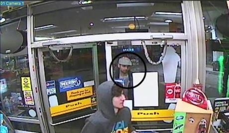 Surveillance image from Shell gas station shows Dzhokhar and Tamerlan Tsarnaev.